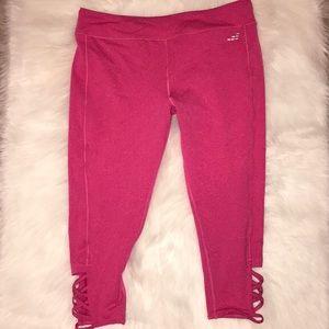 Cute Pink Capri Leggings